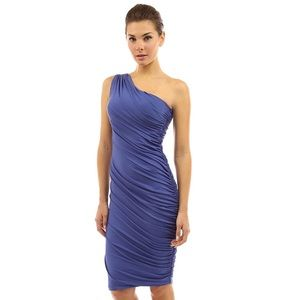 One shoulder cocktail dress. Perfect for weddings